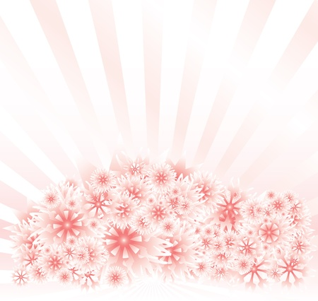 pinkish: Abstract Background with radiant, light pink stripes and designs Illustration