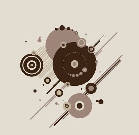 brownish: Abstract circles and lines Illustration