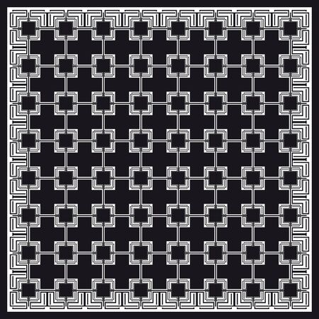 squared: Black and White Grid Pattern.