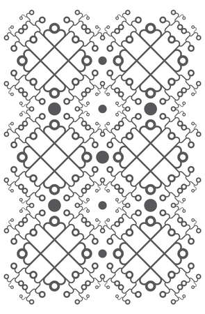 squiggly: Repeating pattern background on white.