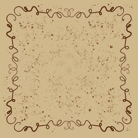 squiggly: Brown squiggly background