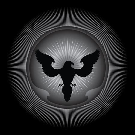 corbeau: Aigle - Illustration ornementales.