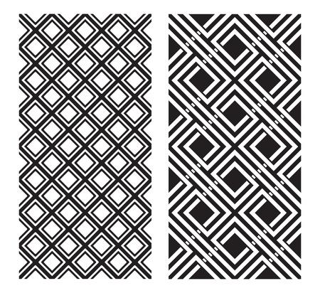 fondo geometrico: Dos patrones de Blanco y Negro que las baldosas sin problemas.