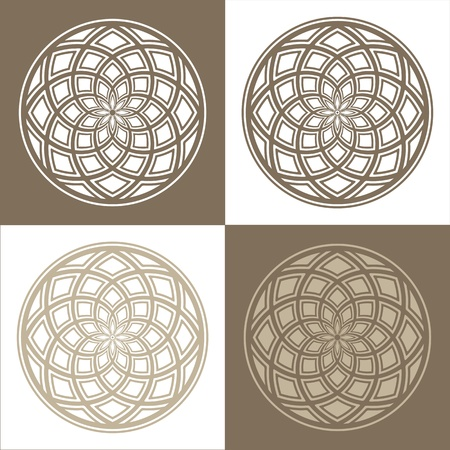four pattern: Abstract circular patterns