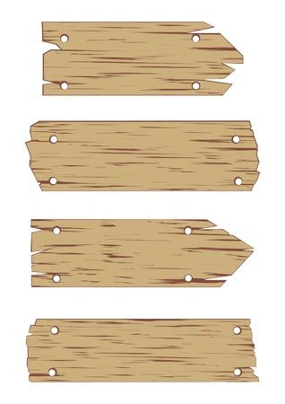 Illustration de panneau en bois sur fond blanc.