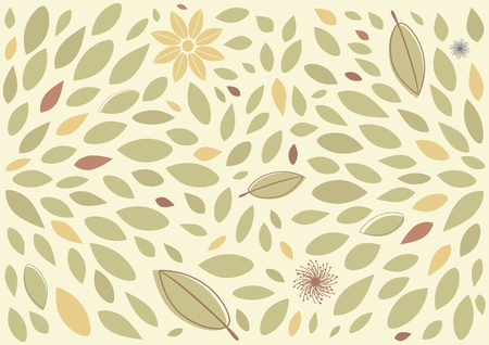 Leaf and floral background