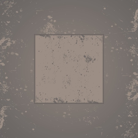 Illustrated gray grunge speckled background and frame. Vector format created in Adobe Illustrator.
