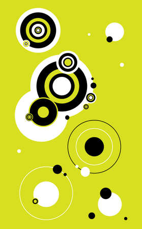 Abstract Background Made Up Of Circles. Illustration