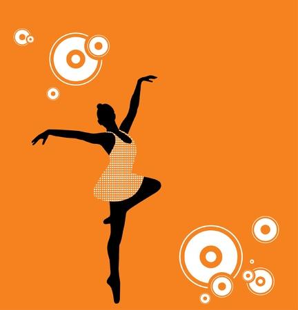 Illustration of a ballet dancer. Vector