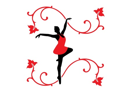 graceful: Illustration of a ballet dancer.