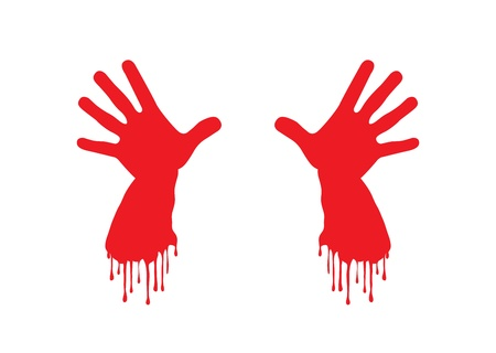 Bleeding Hands. Stock Vector - 11649853