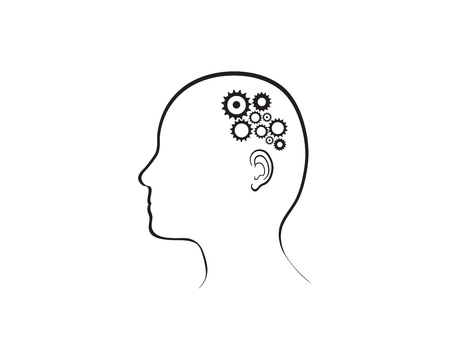 illustration depicting cogs working in the brain.