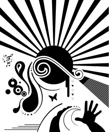 Illustration - Design Elements on white background. Vector