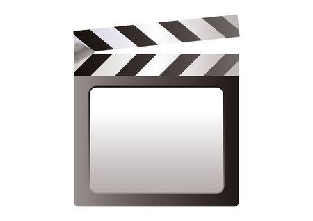 slate: Illustration of a film slate.