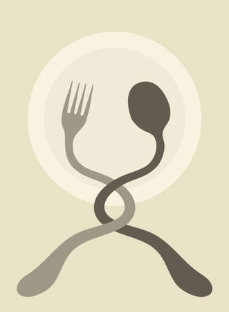 Fork and Spoon Illustration.