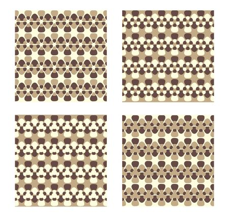 Four Vector Patterns tiles seamlessly. Illustration