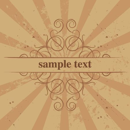 Vector grunge border for text Illustration