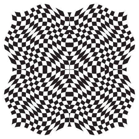 Fondo de la ilusión óptica - Ilustración Vectorial