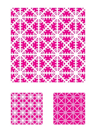 Three Vector Patterns that tiles seamlessly. Illustration