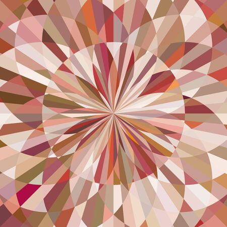 Abstract background of decorative pattern with colorful floral style shapes.