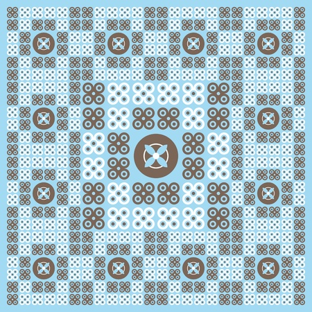 Illustration of abstract turquoise floral background in pattern