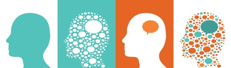 An illustration of head profiles  Illustration