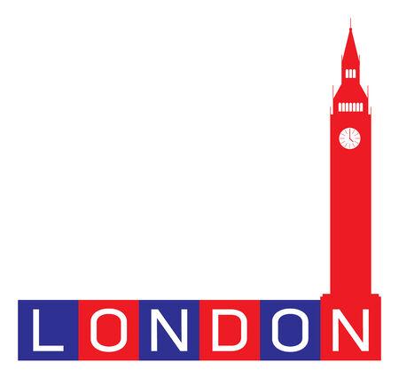 london big ben: Лондон, Биг-Бен Часовая башня - Великобритания Иллюстрация