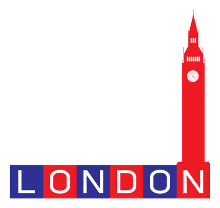 London, Big Ben Clock Tower - UK Vector