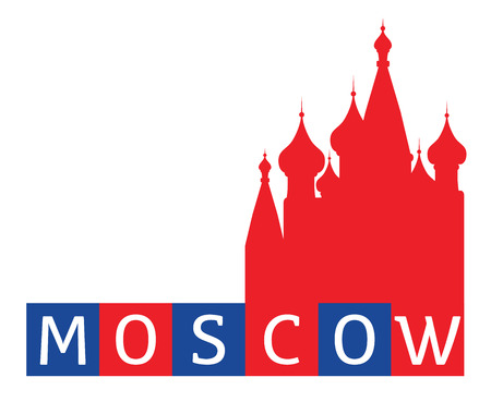 red square moscow: Moscow, Red Square, St Basil Illustration