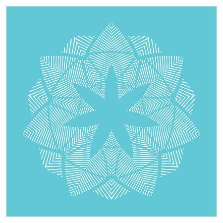 radiating: Dise�o del medall�n azul y blanca de l�neas que irradian desde el centro en forma de flor Vectores