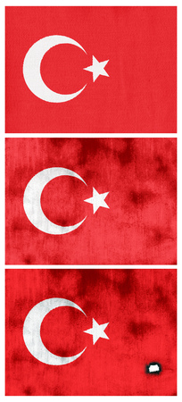 soiled: A set of three flags of Turkey