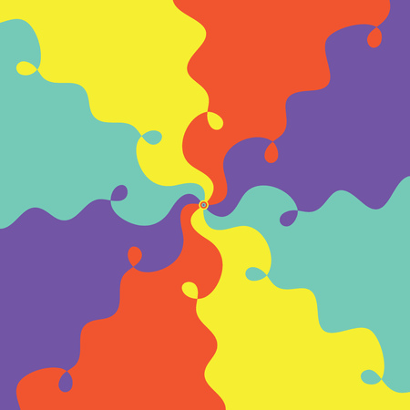 curving: abstract colourful design