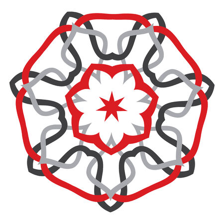 puntig: Zeven Gerichte Ster - decoratieve Vector Design.