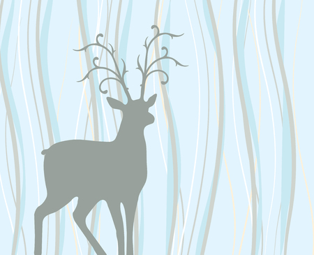 ruminant: Illustrated deer on colorful background.