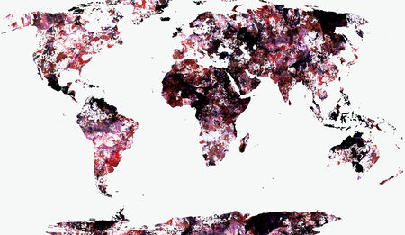 World Map Textured Painting