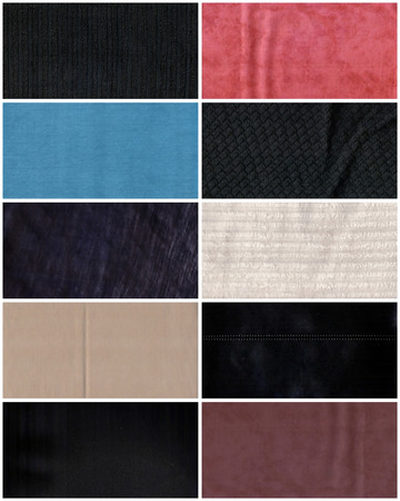 fabric textures: Textures of different colours fabric