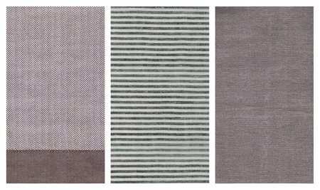 fabric textures: Detail of three different fabric textures.