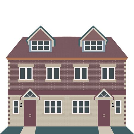 georgian: Vector Illustration  Georgian House Style