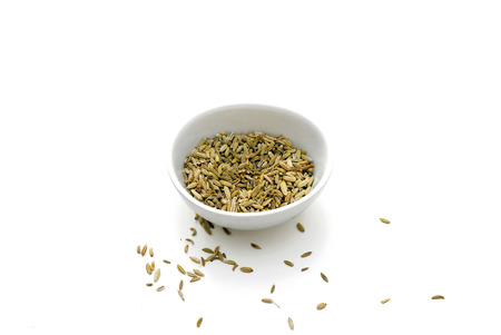 a seed: A bowl of dried Fennel seeds