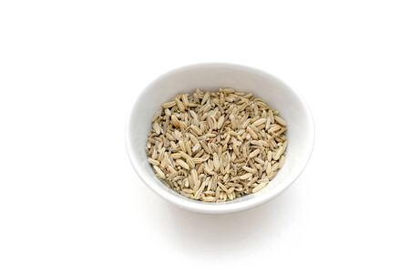 fennel seed: Top view of a bowl of dried Fennel seeds