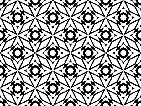 Black and White Pattern that Tiles Seamlessly. Vector Illustration.