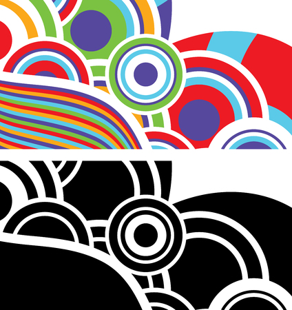 Vector illustration of an abstract background in two variations.