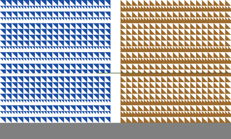 variations: Vector Illustration of a geometric pattern tiles seamlessly in two colour variations.