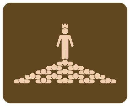 jerarquia: Jerarqu�a con el rey en la parte superior