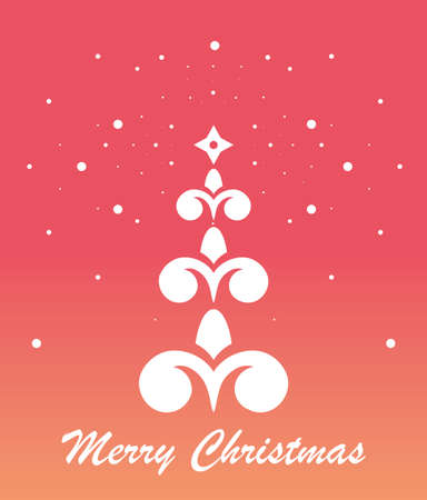 christmas tree illustration: Vector Illustration of a Decorative Christmas Tree.