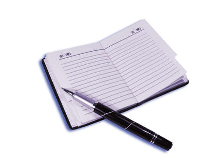 The opened telephone book with the pen