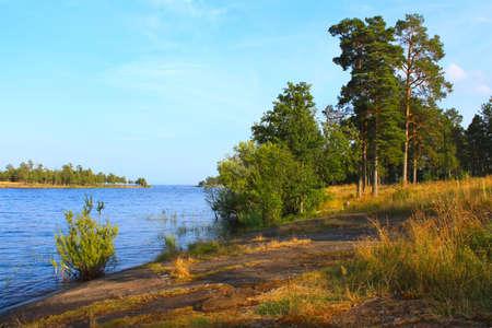 Beautiful summer landscape on Ladoga, island Valaam photo