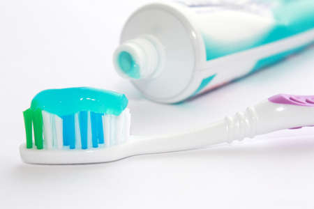 tooth paste: Dental brush and tooth-paste
