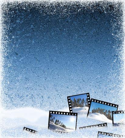 winter frozen background