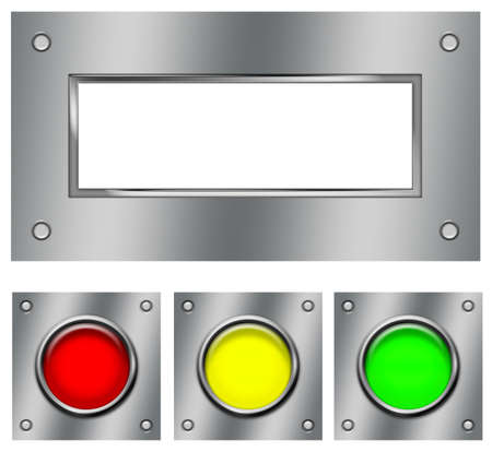 steel panel with buttons Stock Photo - 11602431